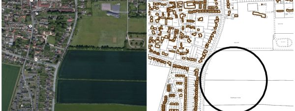 Up to 142 new homes are proposed for land east of Grantham Road in Waddington.