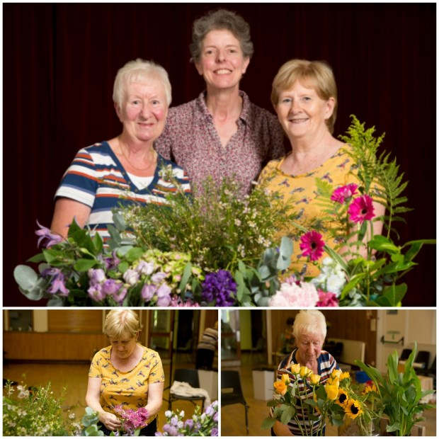 Members of the community and a local floristry group helped to design the arrangements for the prints. Photo: Electric Egg