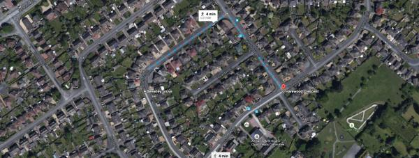 A number of cars were targeted within a radius of less than a mile in North Hykeham. Photo: Google Maps
