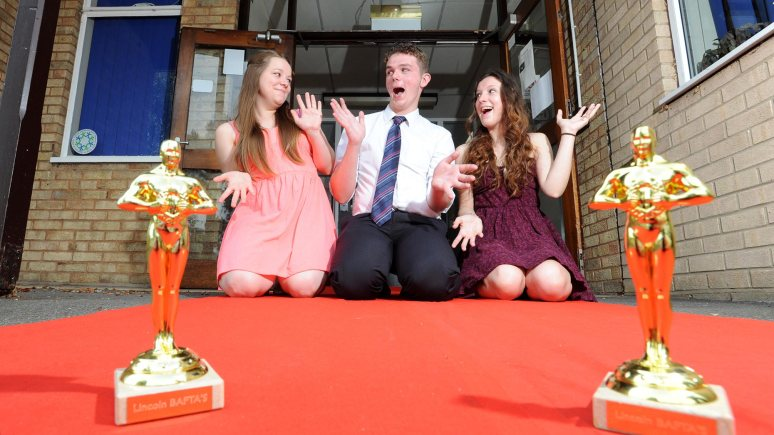 NCS volunteers Beth Beresford (17), Dave Glover (18) and Amy North (18), all from Lincoln. Photo: Stuart Wilde