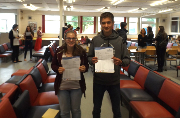 Scott Addison (12A*) and Katie Brocklehurst   (9A*2A)
