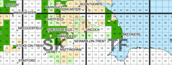 Sites (light green) allocated around Lincoln.