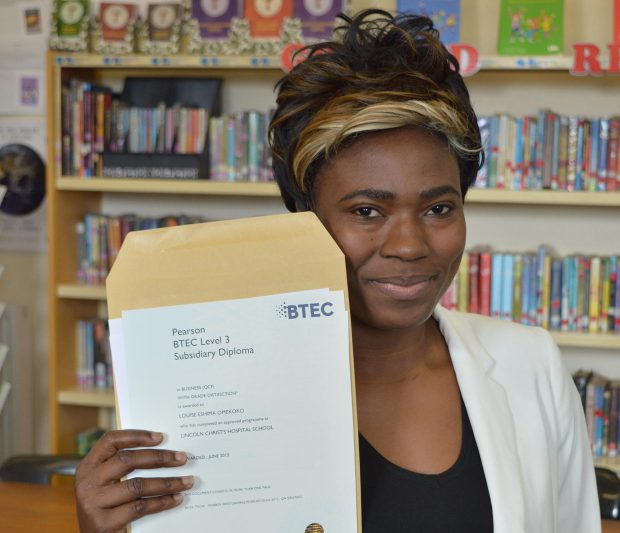 Louise Omekoko, who achieved three Distinction* in Medical Science and Business
