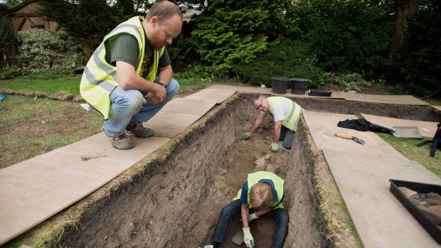 The trench where a number of Roman artefacts have been discovered. Photo: Steve Smailes for The Lincolnite
