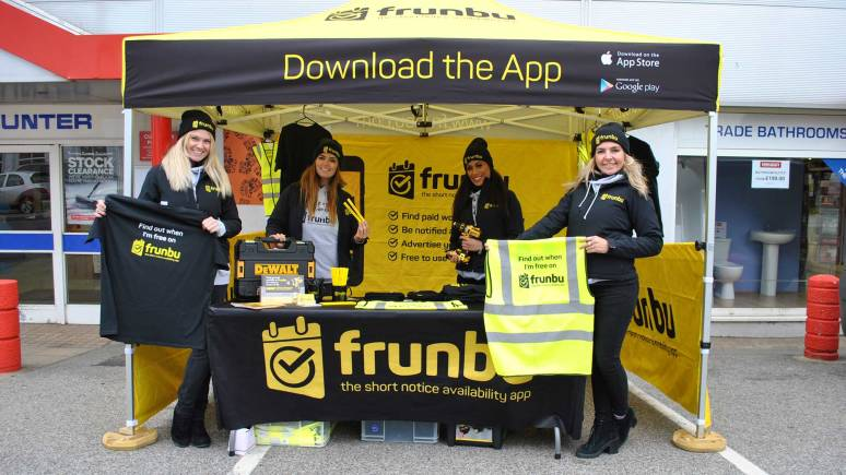 Promoters of the new app in Lincoln.