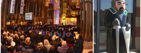 A Lincoln baron will be joining thousands of University of Lincoln students as they graduate at Lincoln Cathedral.
