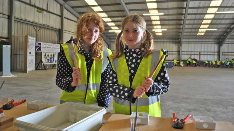 Heather Burton and Elle Barnaby, from Dunholme St Chad's C of E.