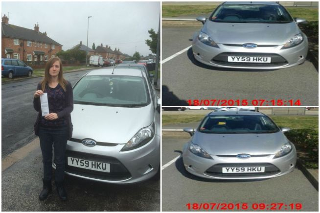 Simone Riley-Young received a fine of £100 after she parked in the Tritton Retail Park