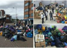 People in Lincoln donated 10 vans worth of donations.