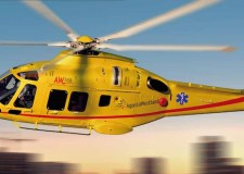 A generic mock up of the new ambucopter aircraft AgustaWestland AW169