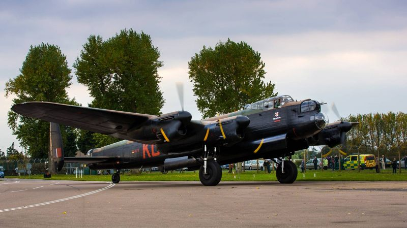 RAF Coningsby's Lancaster Bomber.