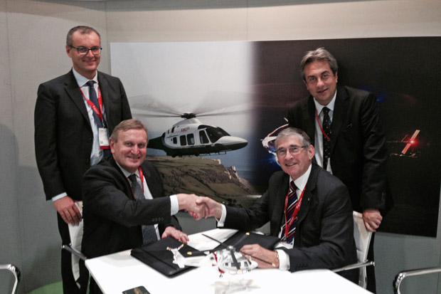 CEO Peter Aldrick confirmed the charity's decision at Helitech International 2015, subject to satisfactory completion of contract negotiations.