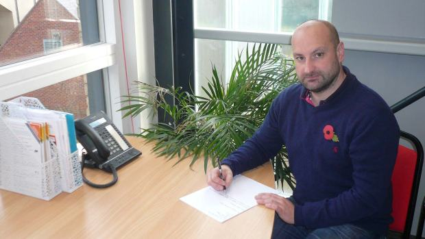 Councillor Marc Jones writing a letter to Home Secretary Theresa May campaigning for a fairer police funding deal for Lincolnshire