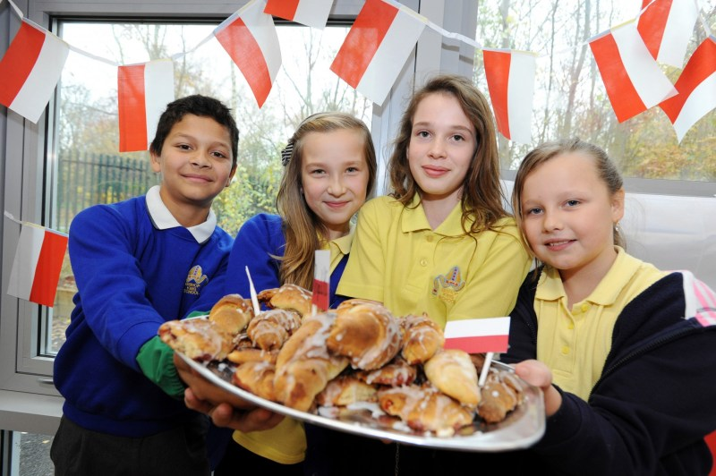 Pupils at Bishop King Primary School celebrating World Hello Day last year. Photo: CoLC