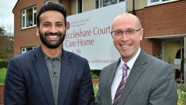 Alykhan Kachra, Managing Director of Country Court Care and Nick Chambers, Chief Executive of LACE Housing