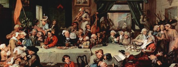 """William Hogarth painting (c. 1755) which is the main source for """"Give us our Eleven Days"""", which refers to the Calendar Act of 1750."""