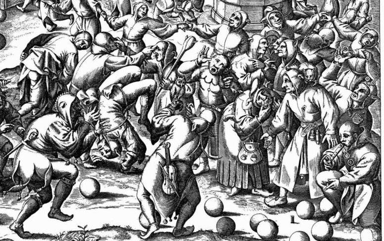 An illustration of the Feast of Fools.