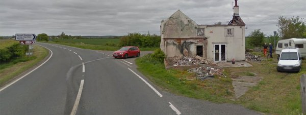 The scene of the fatal crash  near Gayton Le Marsh on New Year's Day. Photo: Google Street View