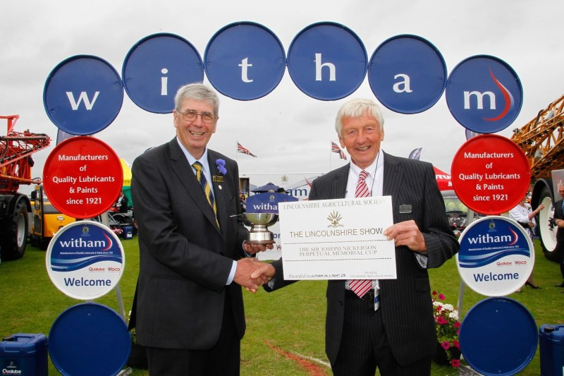 Geoff and Witham at the Lincolnshire Show in 2014.