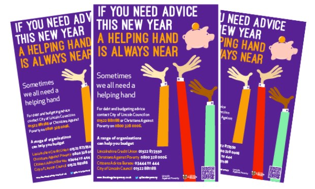 Posters advertising the help on offer will be displayed across the city. Image: City of Lincoln Council