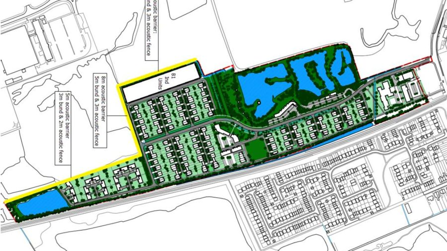The development of Station Road would include almost 80 affordable homes and a care home.