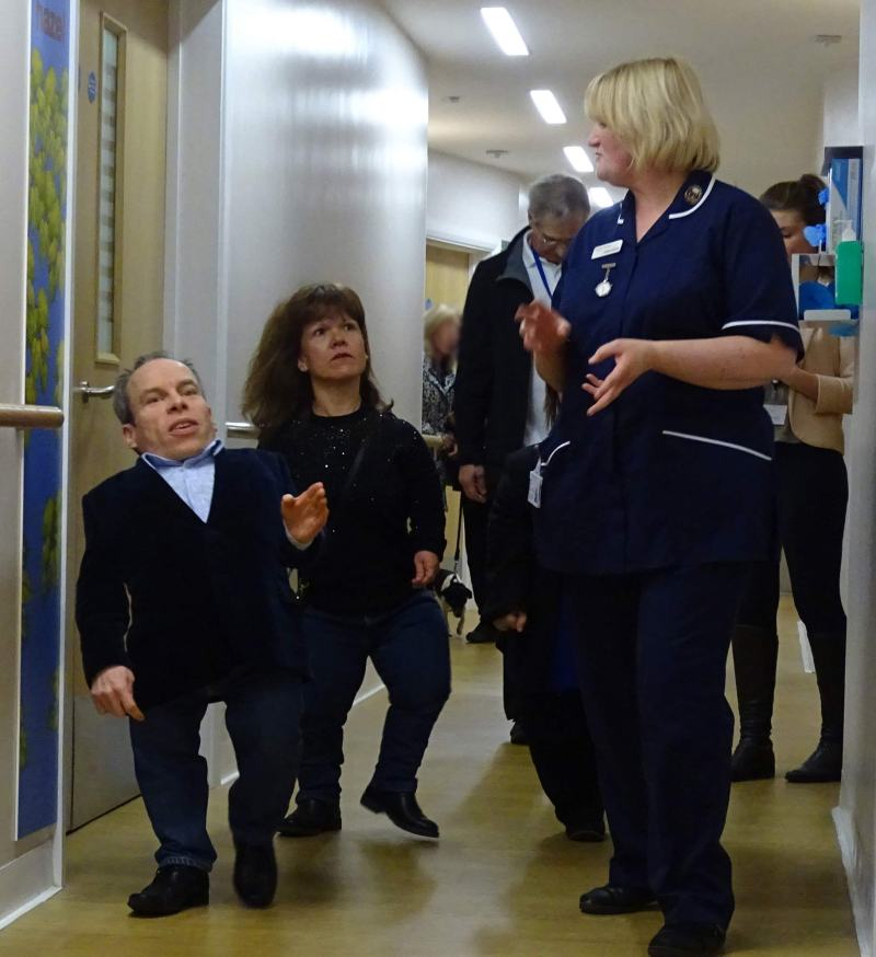 Staff and patients were thrilled that Warwick was present at the opening.