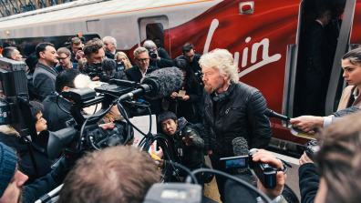 Sir Richard Branson unveiled the new fleet model at Kings Cross on Friday morning