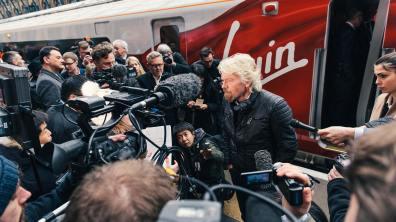 Sir Richard Branson unveiled the new fleet model at Kings Cross on Friday morning
