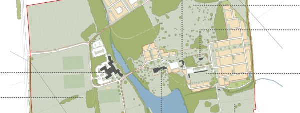 Overview of the proposed masterplan for the development.