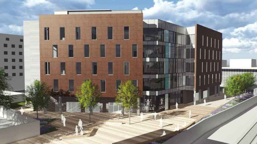Designs for the University of Lincoln's Sarah Swift Building. Photo: BAM Construction