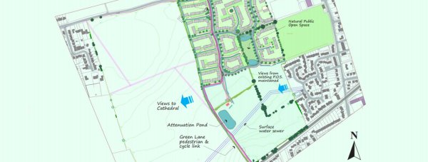 The plans for 300 homes in Cherry Willingham. Photo: Cyden Homes