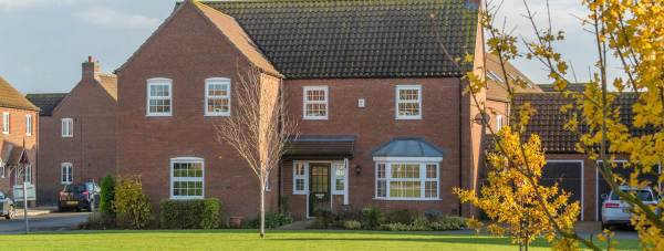 Some of the homes previously built at Manor Farm, Bardney, by Chestnut Homes