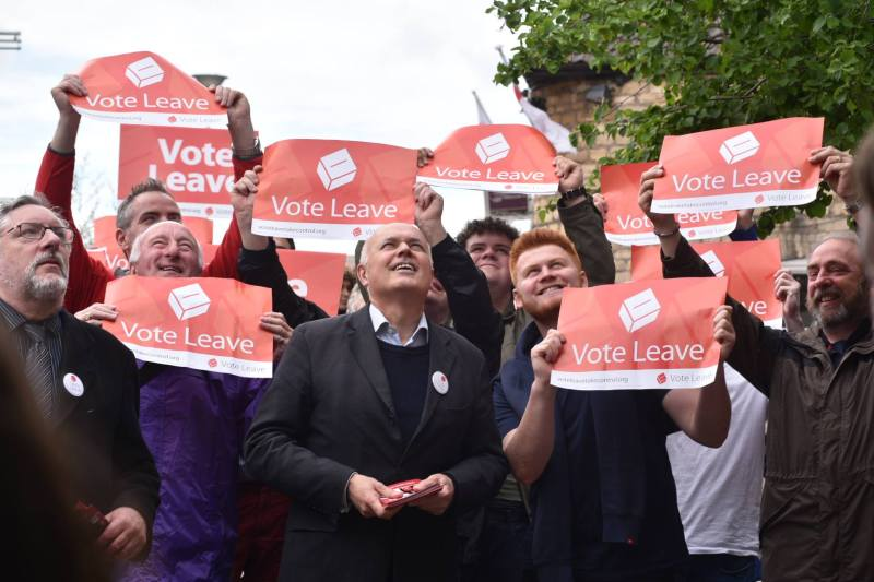 The Vote Leave campaign group in Lincoln. Photo: Steve Smailes for The Lincolnite