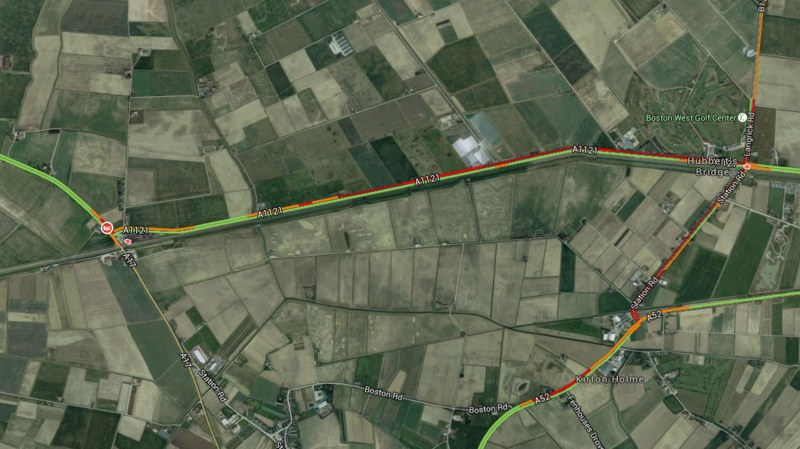 The crash happened on the A17 near to Swineshead Bridge
