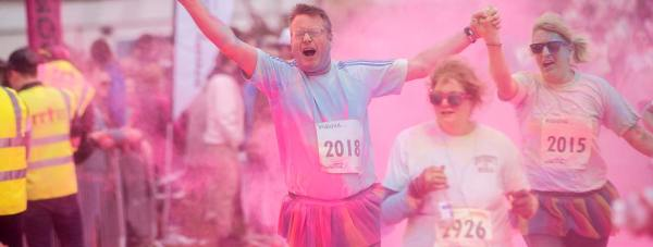 The Colour Dash broke a number of records for the Hospice Photo: Steve Smailes for The Lincolnite