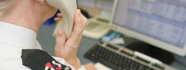 Inside the Lincolnshire Police force control room. Photo: Alamy