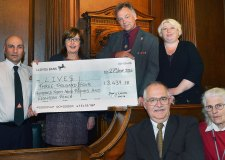 Councillor Andrew Kerry presented the cheque during a special ceremony at the Guildhall in Lincoln.