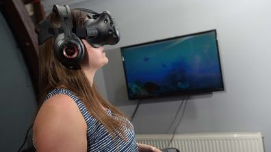 Sarah Harrison-Barker from The Lincolnite got an exclusive first look and experience of the VR games room. Photo: Steve Smailes