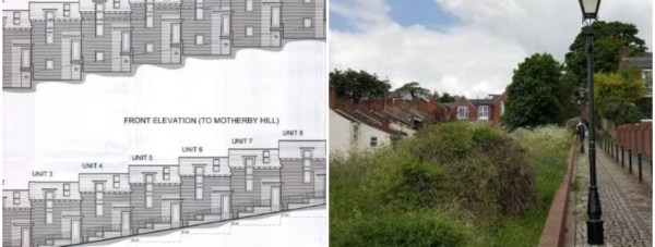 The nine properties would be built off Motherby Lane.