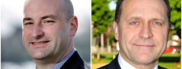 (L-R) PCCs Marc Jones for Lincolnshire and Keith Hunter for Humberside.