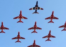 The Red Arrows will perform in a number of displays and flypasts around the world over the next few months.