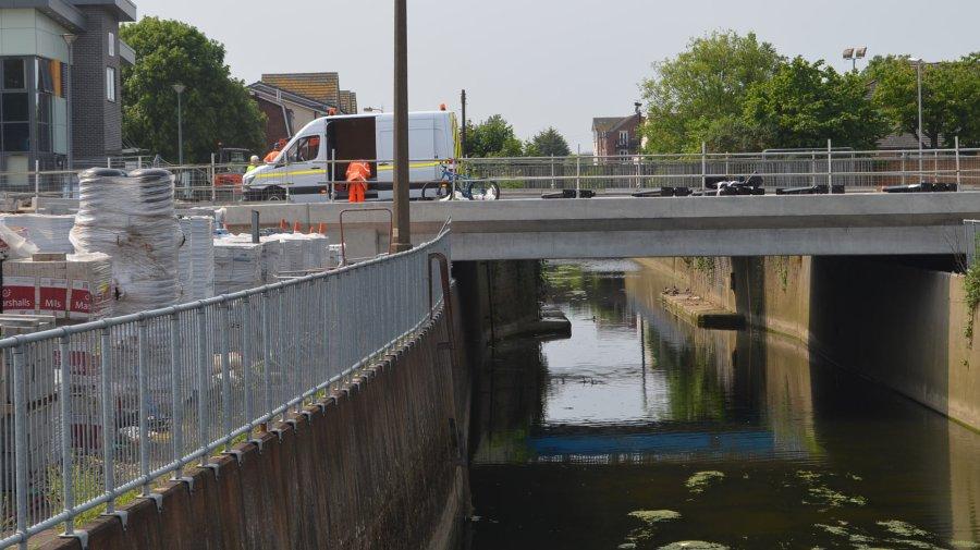 The road bridge will open on June 13. Photo: Sarah Barker for The Lincolnite