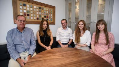 Jamie Krantz, Managing Director of Krantz Designs (Centre) and his team. Photo: Steve Smailes for The Lincolnite