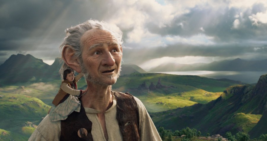Ruby Barnhill and Mark Rylance in The BFG. Photo by Disney.