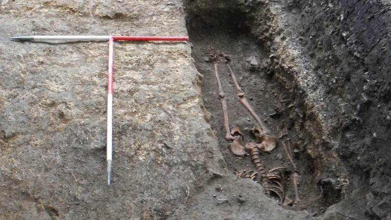 Two burials were discovered in the dig. So far, one has been identified as female.