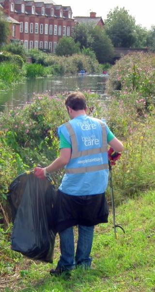 River Care volunteers cleared the banks of the River Witham. Photo: River Care.