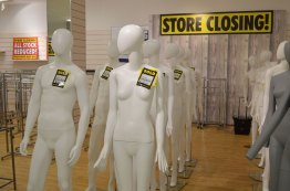 Even the mannequins are for sale on the final trading day of BHS on Lincoln High Street. Photo: Sarah Harrison-Barker