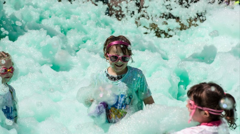 Lincolnshire's first Bubble Rush will take place at Boultham Park on Sunday, September 11.