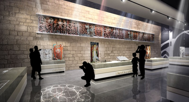 The new exhibition space as part of the Lincoln Cathedral Connected project.