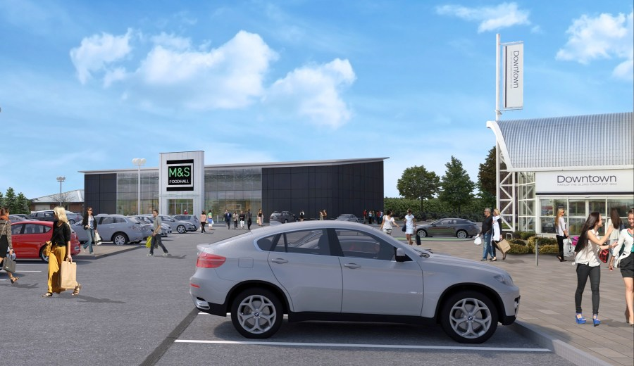 Artist's impressions of the new M&S Foodhall off Tritton Road.